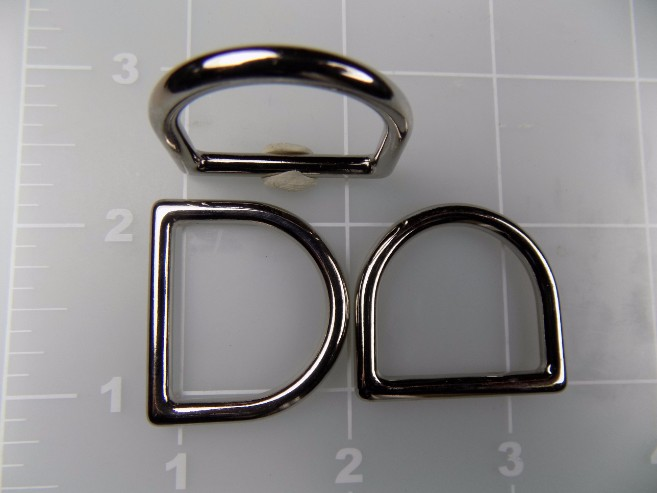 1 inch cast zinc dee ring metal