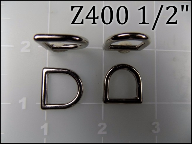Z400 12  - - 1/2 inch zinc die cast dee ring metal