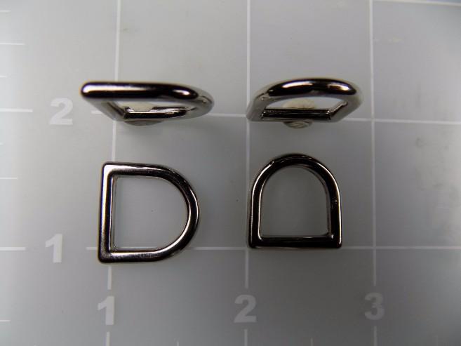 1/2 inch metal zinc die cast dee ring