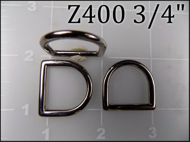 Z400 34   - -  3/4 inch zinc die cast dee ring
