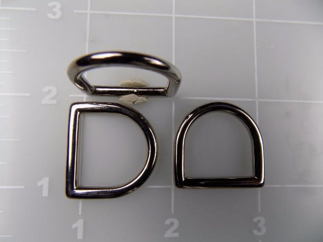 3/4 inch cast zinc dee ring metal