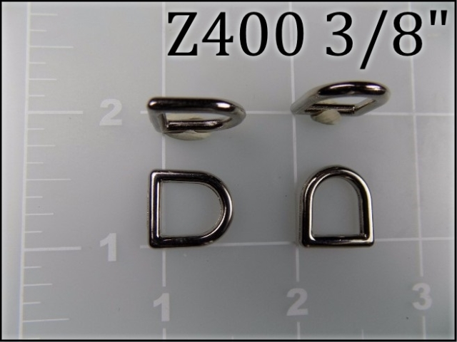 Z400 38 -- 3/8 inch zinc die cast dee ring metal