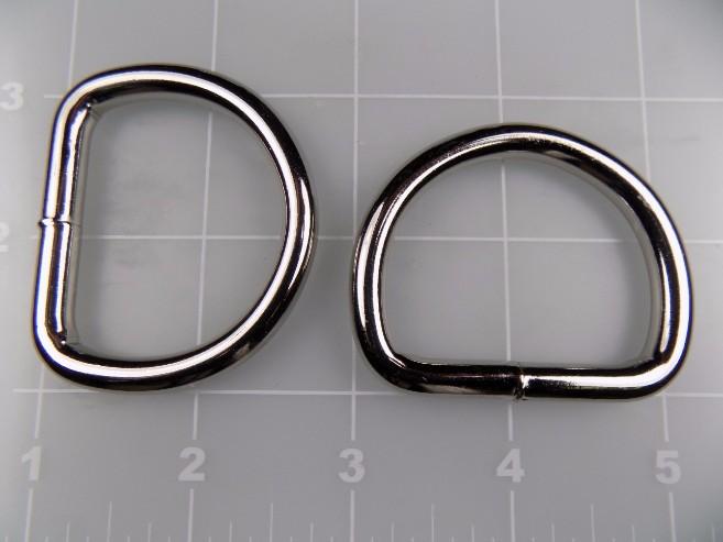 1-1/2 inch welded nickel plated steel dee ring