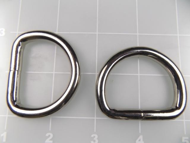 """1-1/4"""" welded nickel plated steel dee ring"""