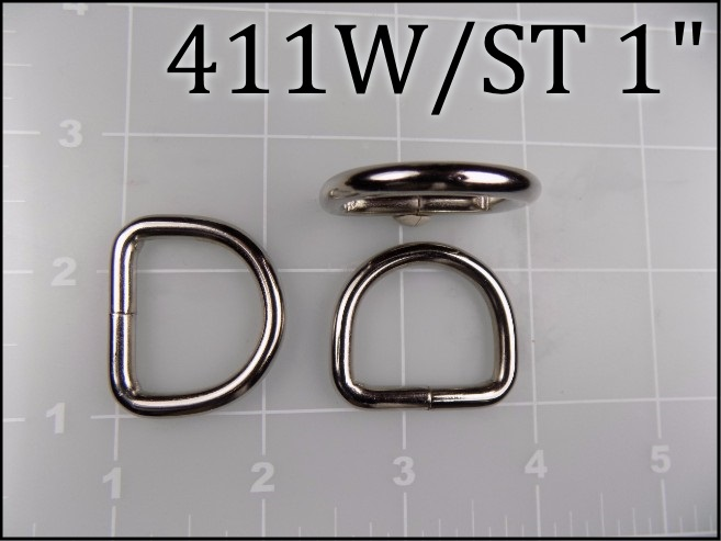 411WST 34 - - 3/4 inch welded nickel plated steel dee ring (.148 wire dia)