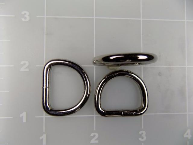 """3/4"""" welded metal steel dee ring"""