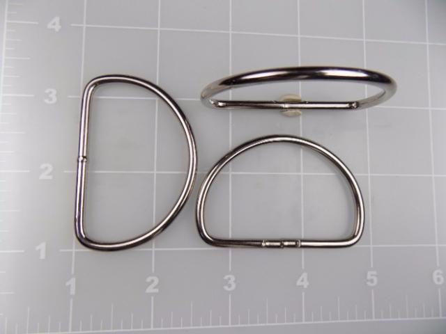 """2"""" welded nickel plated steel dee ring"""