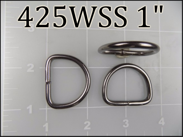 425WSS 1 - -  1 inch welded stainless steel dee ring