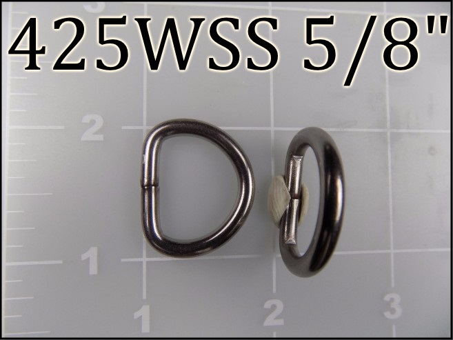 "425WSS 58 - - 5/8"" Welded Stainless Steel Dee Ring metal"