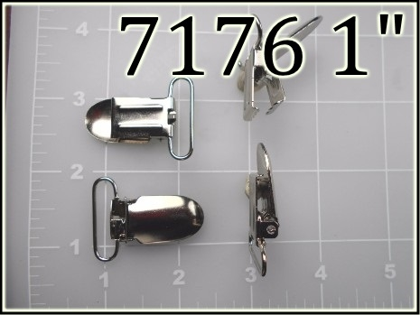 7176 1  - - 1 inch nickel plated steel suspender clip