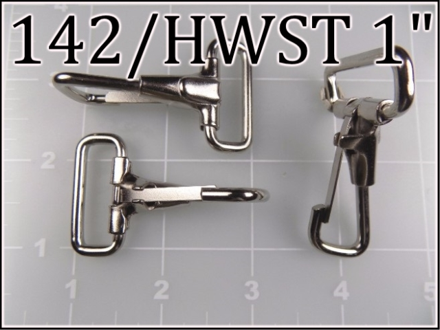 142HWST 1 - -  1  inch nickel plated steel snap hook (heavy wire)