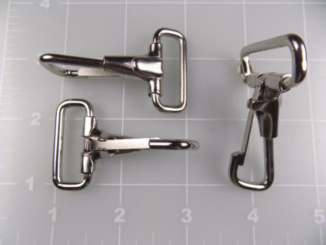 """inch nickel plated steel snap hook 1"""""""