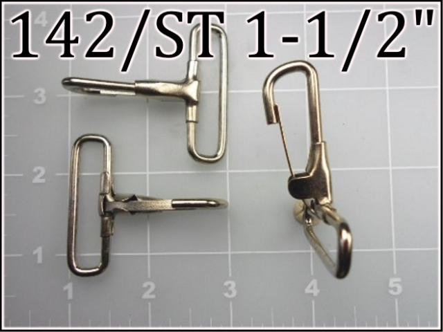 142ST 112  - - 1-1/2 inch nickel plated steel snap hook