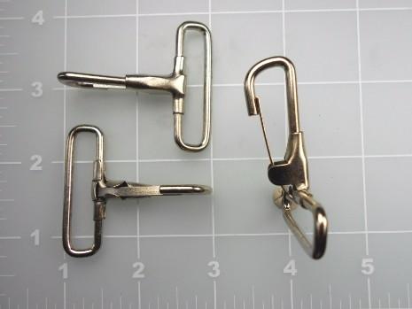 """inch nickel plated steel snap hook 1-1/2"""""""