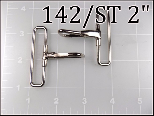 142ST 2  - -  2 inch nickel plated steel snap hook