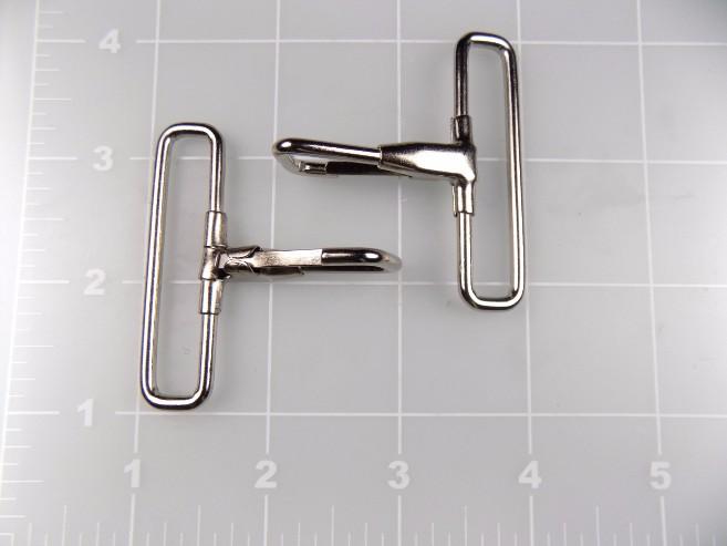 """inch nickel plated steel snap hook 2"""""""