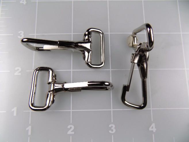 """inch nickel plated steel snap hook metal 3/4"""""""