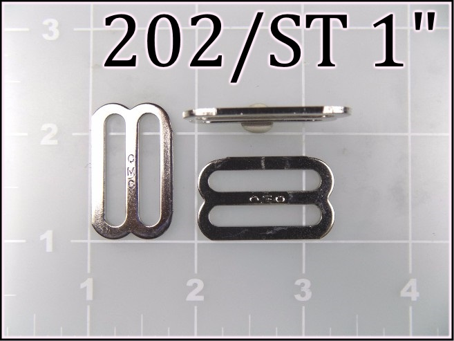 202ST 1 - - 1 inch nickel plated steel slide