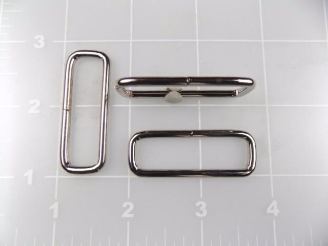 """1-1/2"""" nickel steel rectangular ring loop metal"""