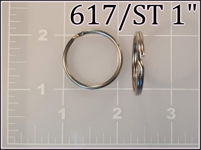 617ST 1  (1 inch nickel plated key ring)