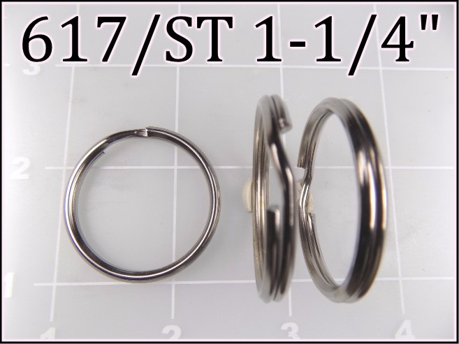 617ST 114 - -  1-1/4 inch nickel plated steel split ring metal