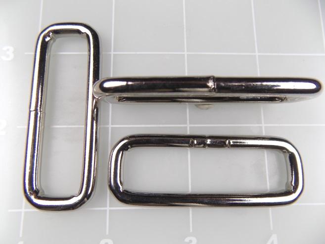 """2"""" loop rectangular nickel steel metal"""