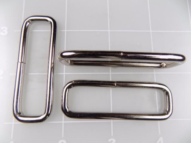 """2"""" rectangular nickel steel metal loop"""