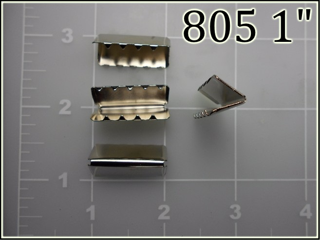 805 1  - - 1 inch nickel plated steel web tip