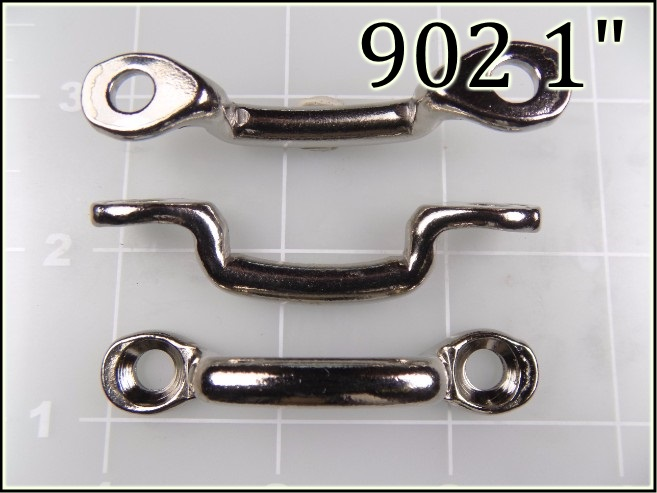 902 1 - -  1 inch nickel plated steel footman loop