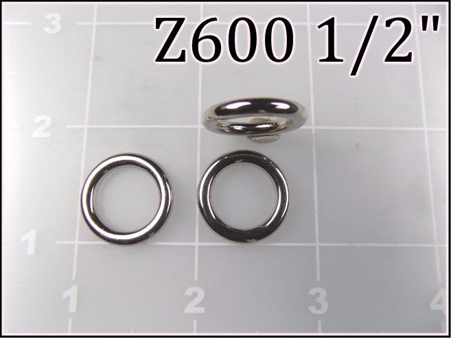 Z600 12 - -  1/2 inch zinc cast round ring