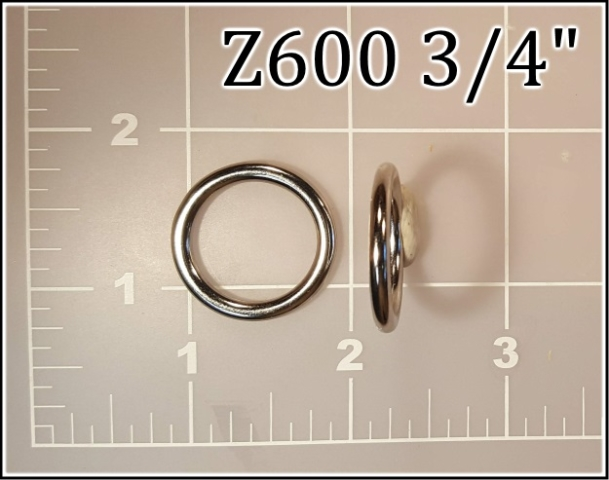 Z600 34 - - 3/4 inch zinc cast round ring metal
