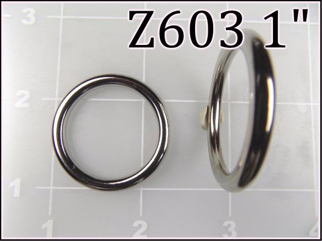 Z603 1 - -  1 inch cast zinc round ring