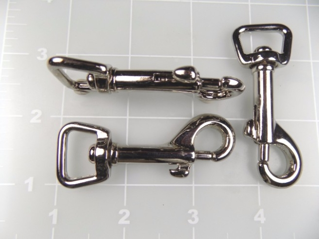 """inch nickel plated steel snap hook 5/8"""""""