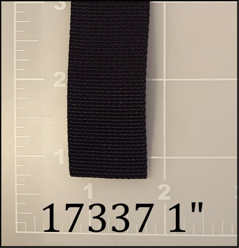 "nylon black webbing 1"" ACW American Cord and Webbing AC&W 10648"