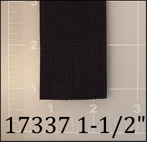 nylon black webbing 1-1/2""