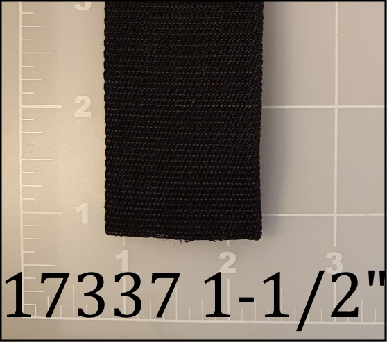 "polypropylene black webbing 1-1/2"""