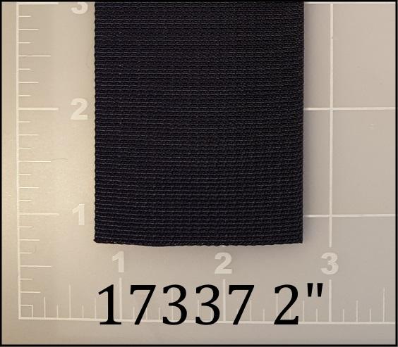 "nylon black webbing 2"" ACW American Cord and Webbing AC&W 20620"