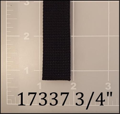 "nylon black webbing 3/4"" ACW American Cord and Webbing AC&W 05154"