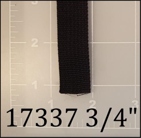"polypropylene black webbing 3/4"""