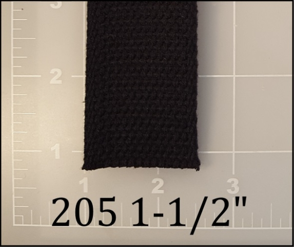 natural black cotton webbing 1-1/2""