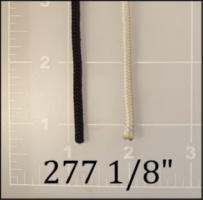 """nylon black white cord 1/8"""""""
