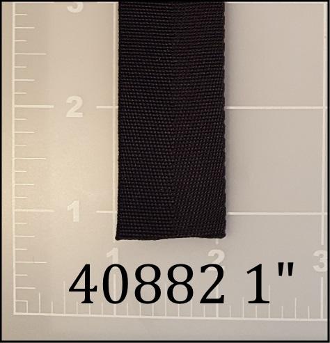 "nylon black webbing binding tape 1"" ACW  AC&W American Cord and Webbing  40882 10609"