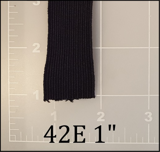 "black elastic webbing 1"" also awesome"