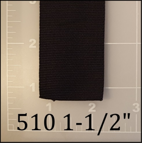 "nylon black binding tape 1-1/2"" ACW  AC&W American Cord and Webbing 510  16769"