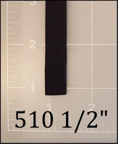 "nylon black binding tape 1/2"" ACW  ACW American Cord and Webbing AC&W 510  01075"
