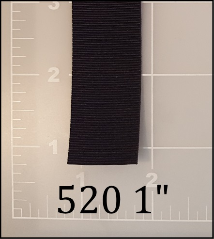 """polyester black binding tape 1"""" ACW  AC&W American Cord and Webbing 520  10616"""