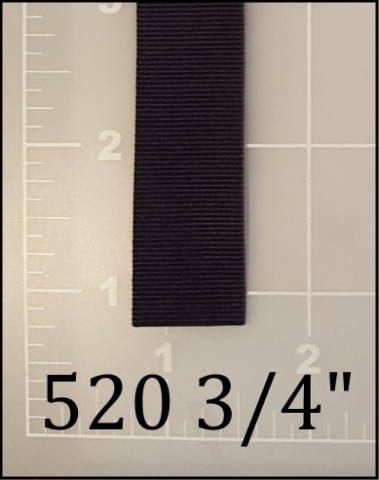 "polyester black binding tape 3/4"" ACW  AC&W American Cord and Webbing 520 05075"
