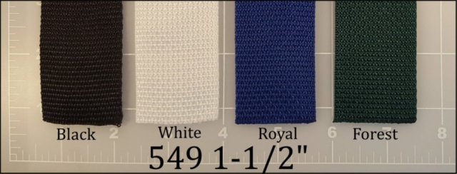polypropylene black white royal blue forest webbing 1-1/2""