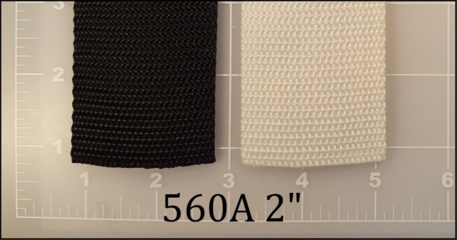 polypropylene black white webbing 2""
