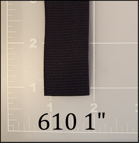 "nylon black binding tape 1"" ACW  AC&W American Cord and Webbing 610  10495"